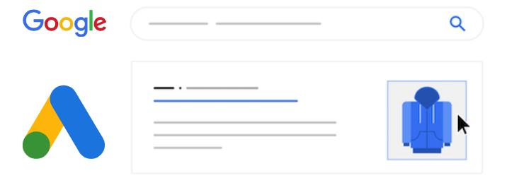 google ads logo and image extension mockup