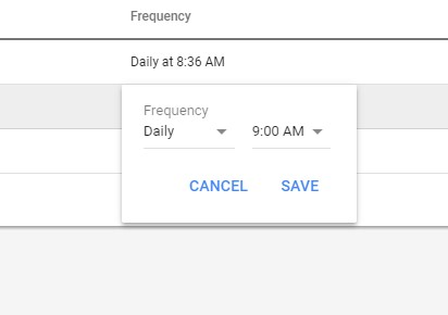 Google scripts examples setting frequency