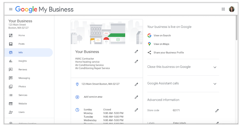 how to create and verify google my business account google my business dashboard