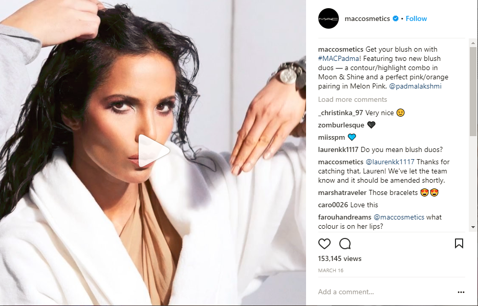 Instagram Videos Maccosmetics
