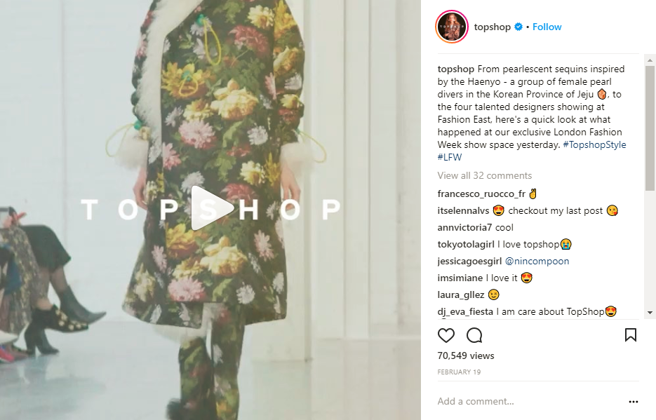 Instagram Videos TopShop