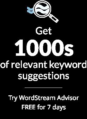 Popular Keywords | WordStream