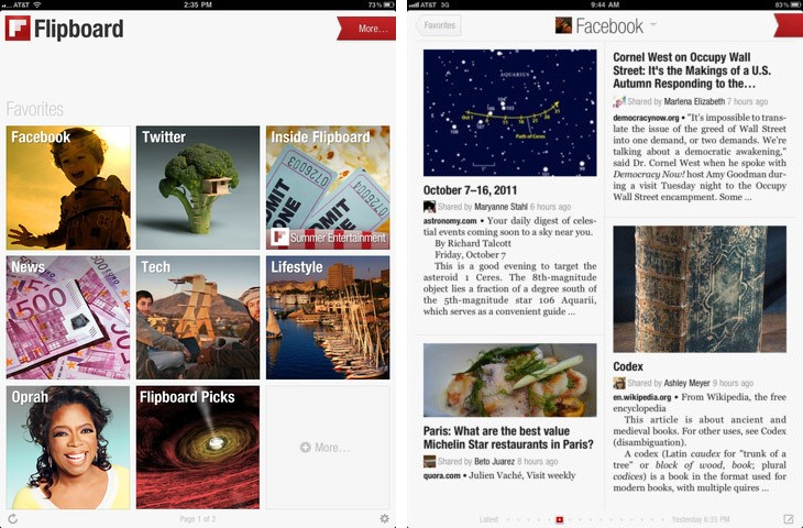 Gestionar cuentas de redes sociales Flipboard