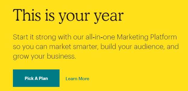 marketing copy example from Mailchimp