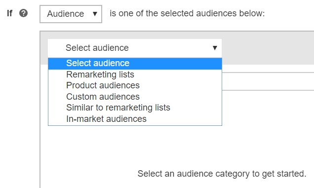 audience selection for IF function