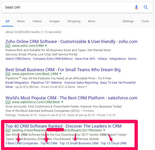 mobile conversion rate best crm search