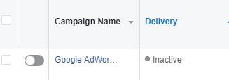 pause facebook ad campaign