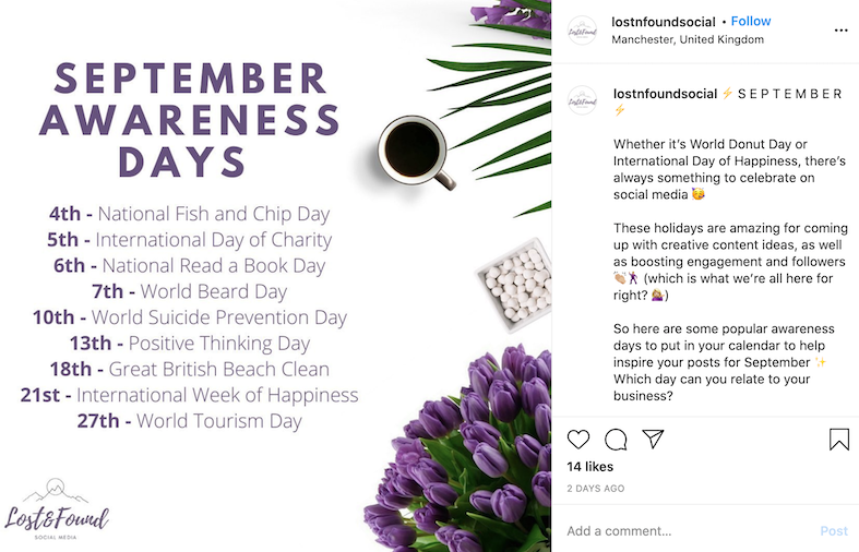 september marketing ideas national days