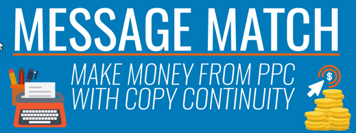 message match between adwords account and sales funnel stages