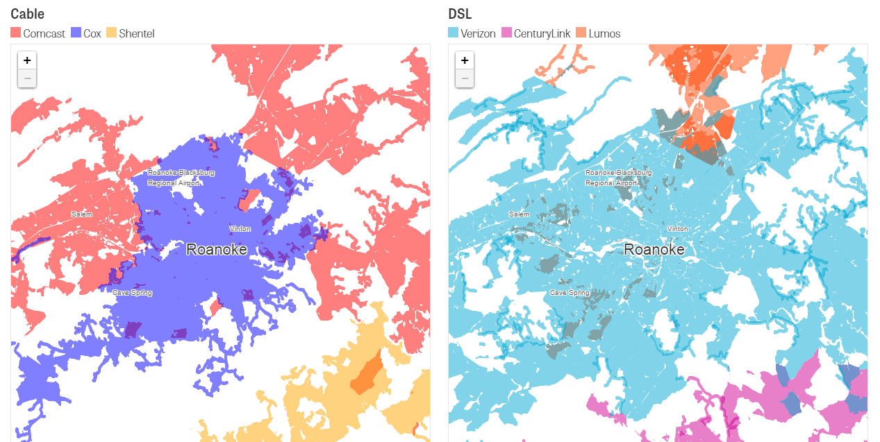 Net neutrality ISPs avoid competing with each other map
