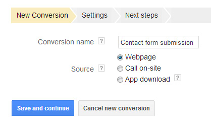 New AdWords Conversion