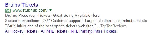 google ad green label