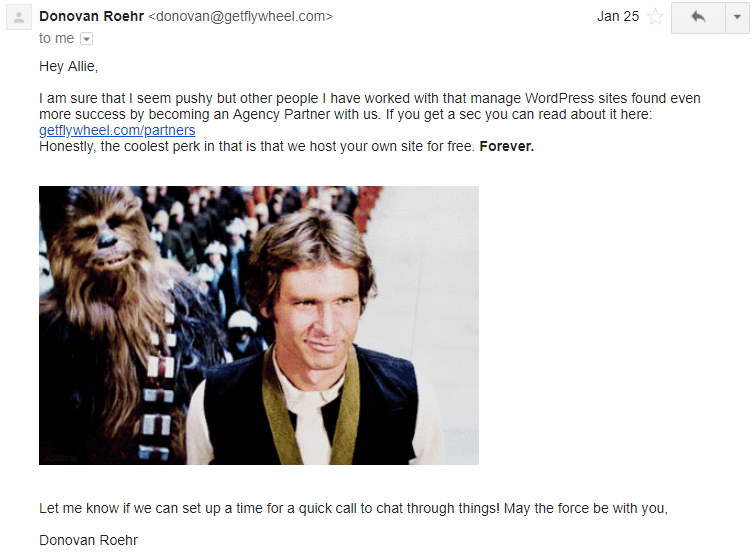 Non-newsletter emails Unsplash