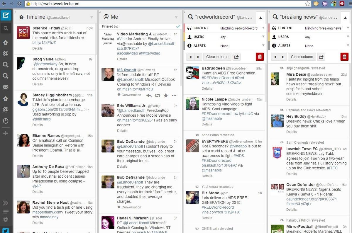Online marketing tools Tweetdeck