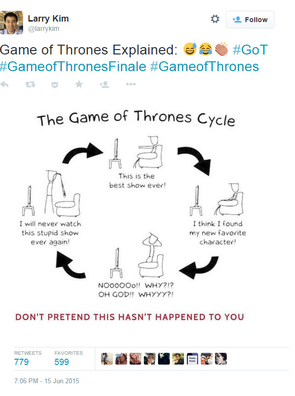 Paid social media Larry Kim Game of Thrones tweet