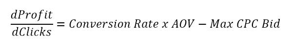 ppc profit calculus formula