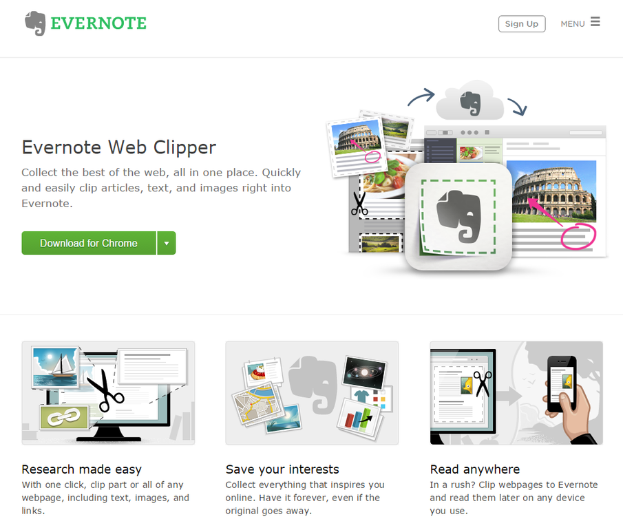 Productivity for content marketers Evernote Web Clipper