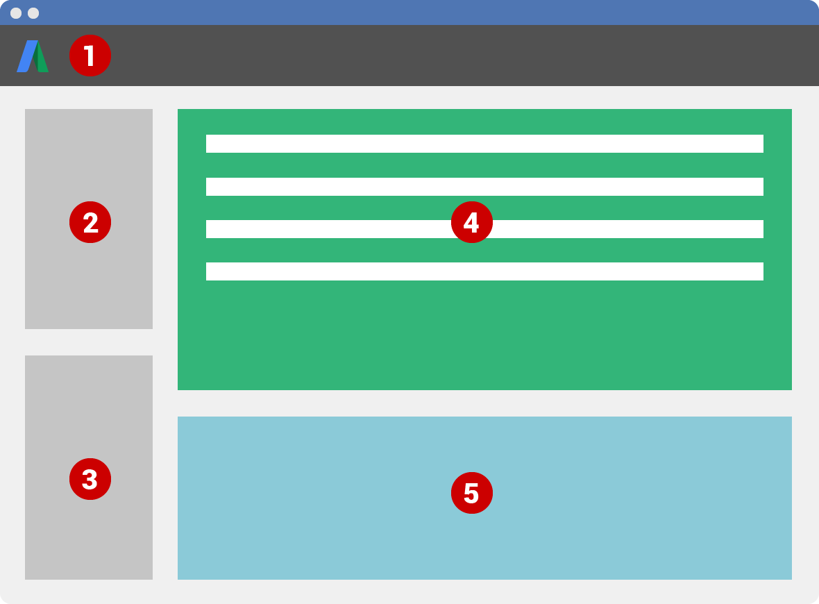 Redesigned AdWords Editor 11 interface