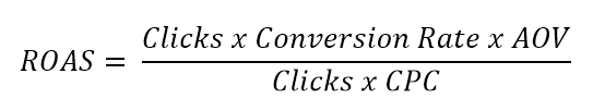 adwords KPI formulas