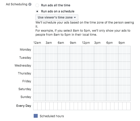 how to schedule an instagram ad