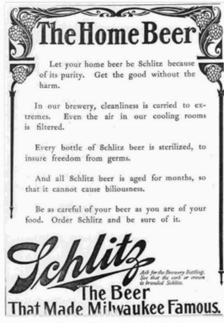 vintage schlitz ad