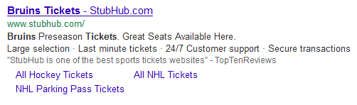 google ads with no green labels