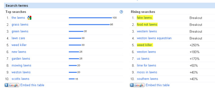 latest search trends