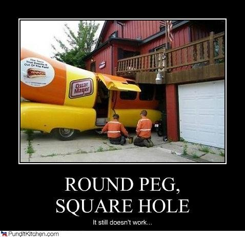 round peg square hole