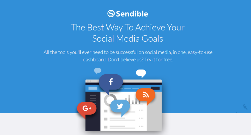 sendible landing page example
