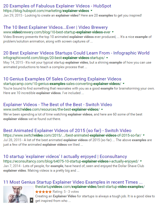 organic serp keyword research