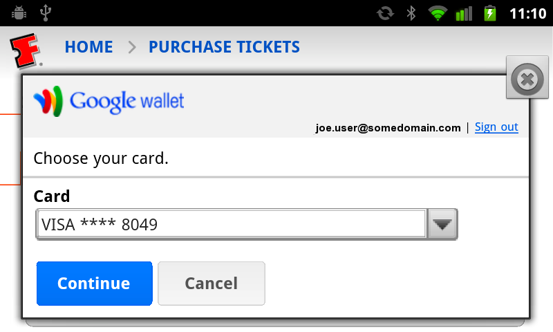 Shopping cart abandonment Google Wallet