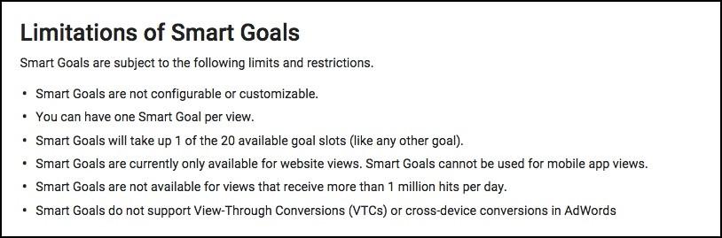 smart goals limitations