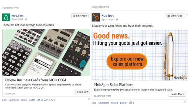 Social media advertising Facebook ads
