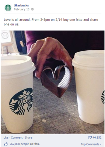 Starbucks Marketing on Facebook