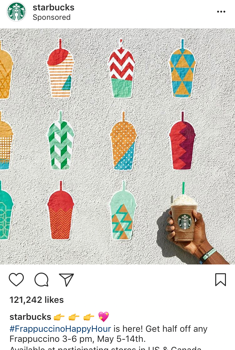 Starbucks Best Instagram Ad