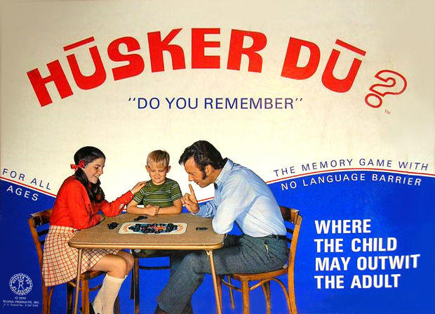 Subliminal advertising Husker Du board game cover art