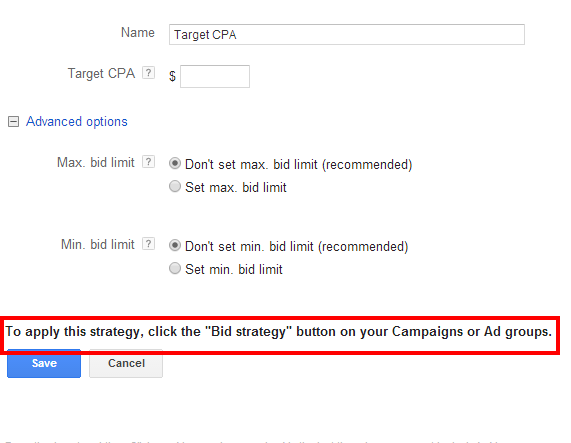 Flexible Bid Strategies Target CPA