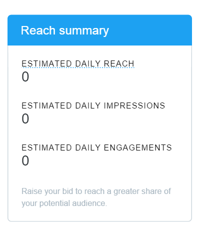 twitter lead gen reach calculator