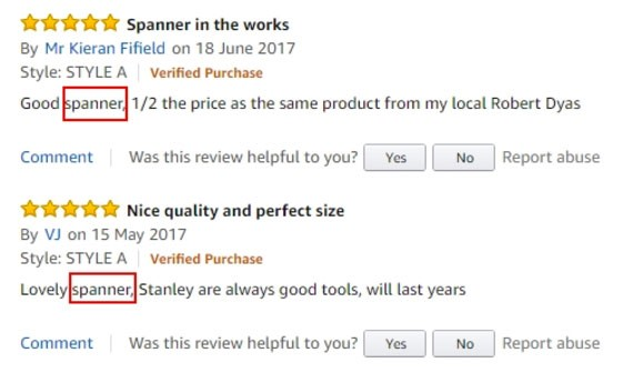 customer reviews in ad copy