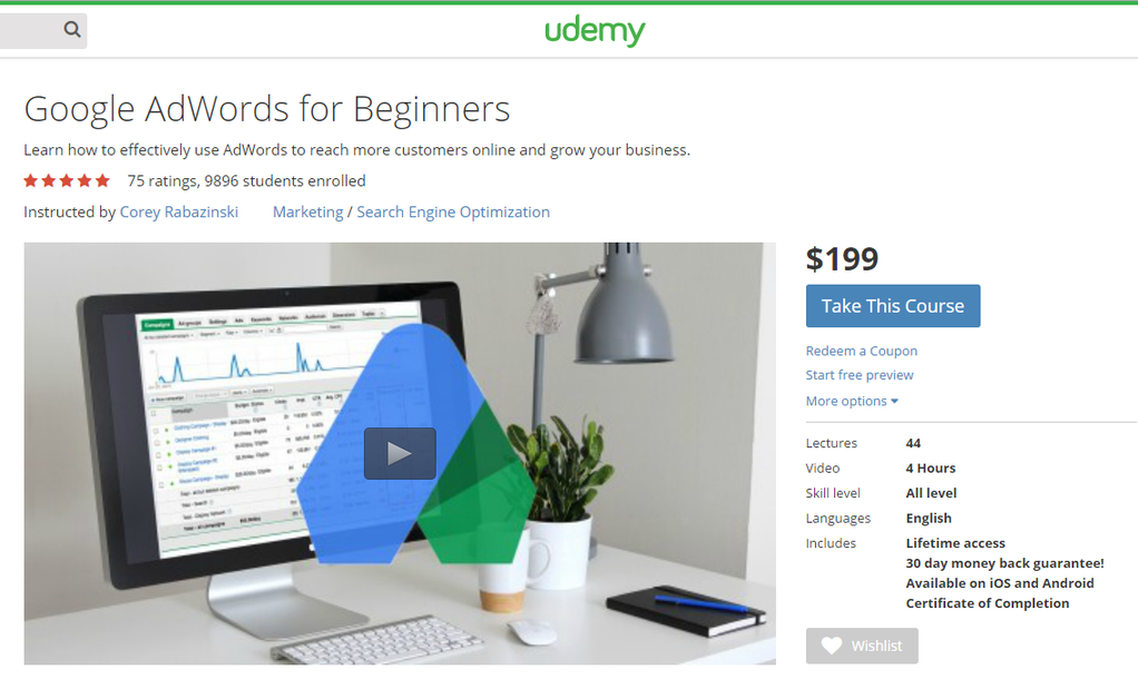 Ways to learn AdWords without getting certified Udemy courses