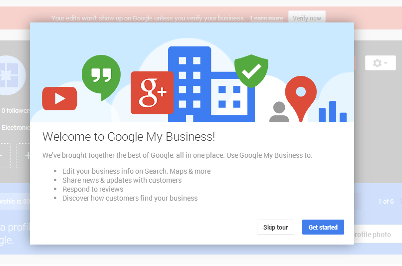 google my business welcome