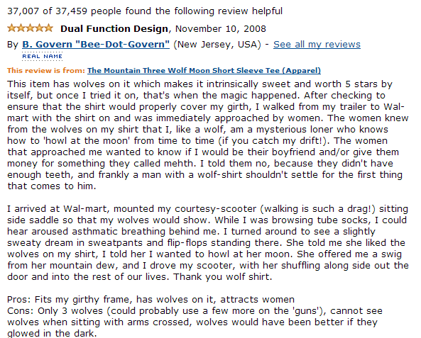 amazon funny wolf shirt review