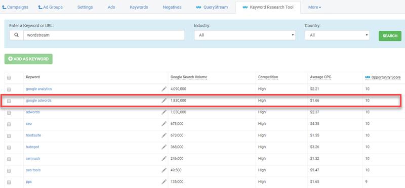 wordstream keyword suggestion tool for customers
