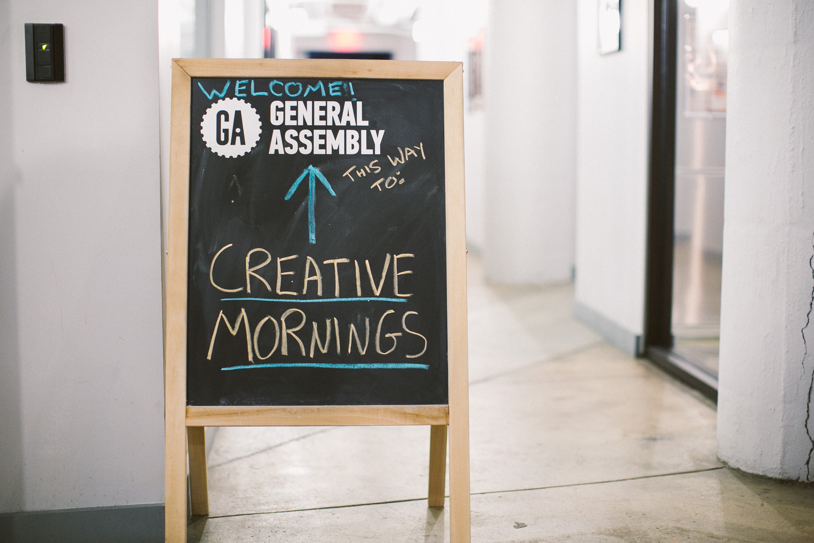 Working remotely Creative Mornings