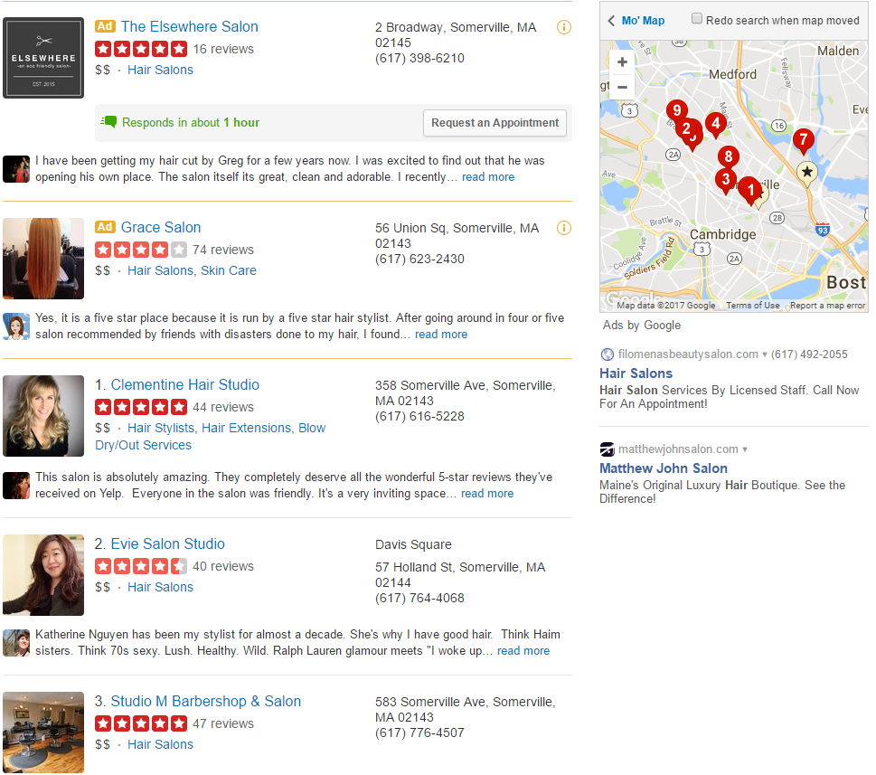 Marketing on Yelp for Hair Salons