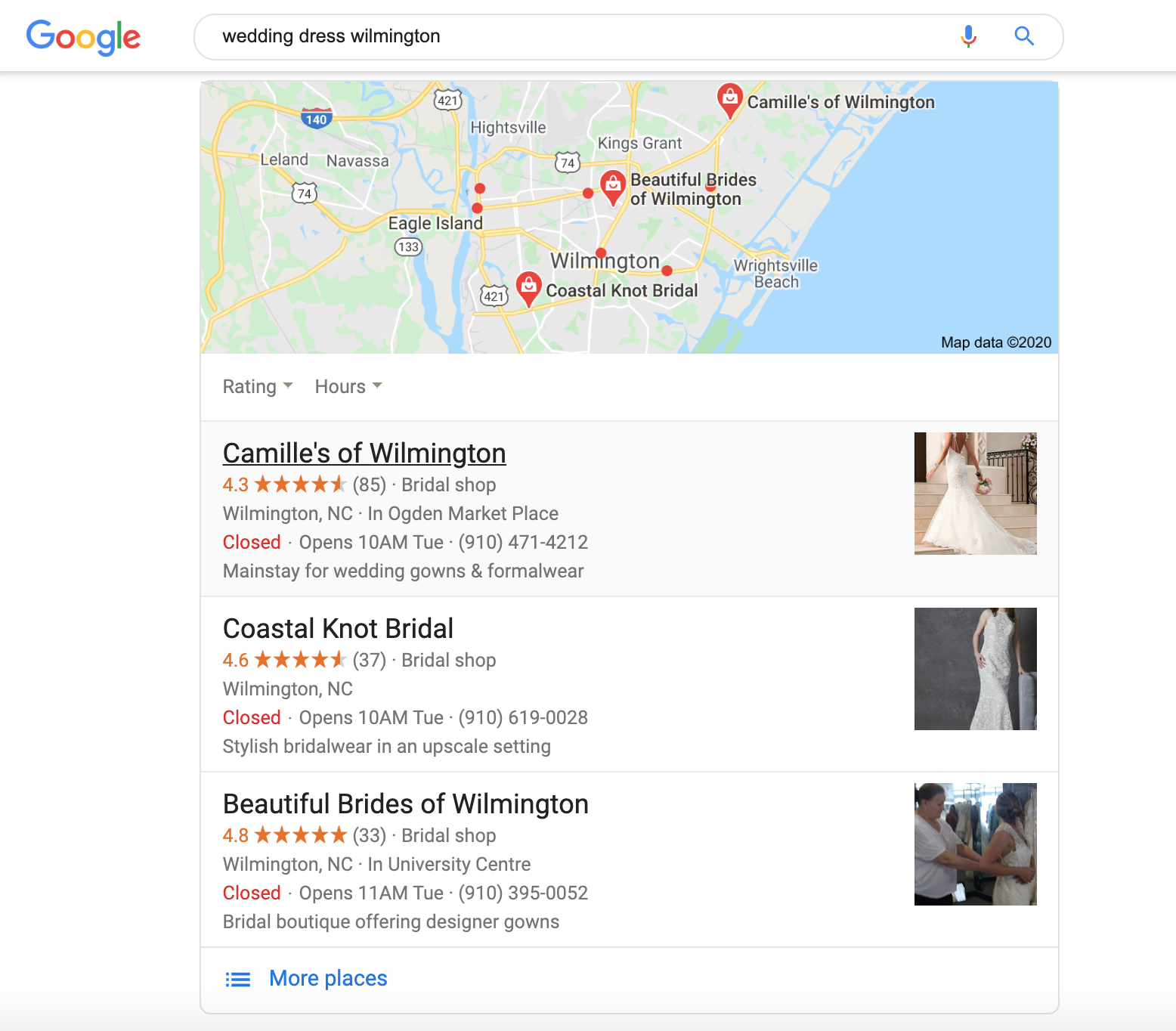 local search image results