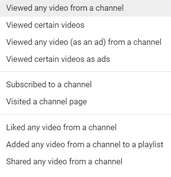 viewed any video from any channel youtube metrics