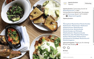 instagram for restaurants
