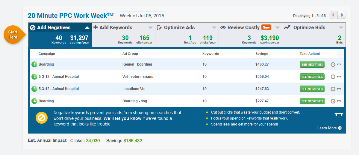 WordStream Advisor 20-Minute PPC Work Week screenshot