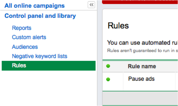 managing automated rules